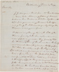 Military & Patriotic:Revolutionary War, Walter Butler Autograph Letter Signed....