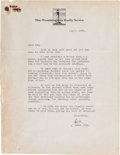 Autographs:Celebrities, Ernie Pyle Typed Letter Signed. ...