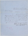 Autographs:Military Figures, [Mormons] and [Utah Expedition]. Irvin McDowell Document Signed. ...