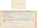 Autographs:Celebrities, Sitting Bull Signed Card, circa 1884.... (Total: 5 )