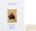 Autographs:Celebrities, Geronimo Signature with Fully Documented Strands of His Hair....