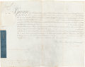Autographs:Non-American, George III Signed Military Appointment. ...