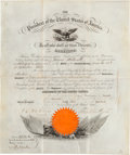 Autographs:U.S. Presidents, Franklin Pierce Signed Naval Appointment....