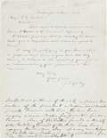 Autographs:Celebrities, [Abraham Lincoln]. Joshua Fry Speed Autograph Letter Signed....