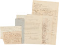 Autographs:Statesmen, [Slavery]. Seven Civil War-dated Documents...