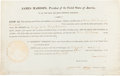 Autographs:U.S. Presidents, James Madison Signed Presidential Appointment....
