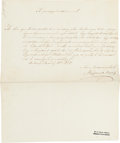 Autographs:Non-American, Louis Kossuth Document Signed....