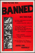 "Movie Posters:Sexploitation, Banned (CIP, 1966). One Sheet (23"" X 35""). Sexploitation.. ..."
