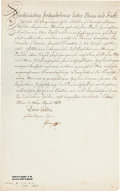 Autographs:Non-American, Francis II, Holy Roman Emperor, Document Signed...