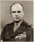 Autographs:Military Figures, Matthew Ridgway Inscribed Photograph Signed....