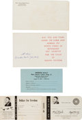 Miscellaneous:Ephemera, [Martin Luther King Jr.]. Group of Three Donation Request Cardsincluding: Coretta Scott King Card Signed.... (Total: 4 )