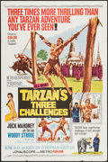 "Movie Posters:Adventure, Tarzan's Three Challenges and Others Lot (MGM, 1963). One Sheets(2) (27"" X 41""), and Lobby Card (11"" X 14""). Adventure.. ...(Total: 3 Items)"