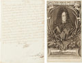 Autographs:Non-American, Charles VI, Holy Roman Emperor, Document Signed... (Total: 2 Items)