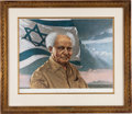 Autographs:Non-American, [Herbert Davidson]. Limited Edition Lithograph Portrait of DavidBen-Gurion Signed, circa 1973....