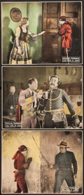 """Movie Posters:Swashbuckler, The Mark of Zorro (United Artists, 1920). Trimmed Lobby Cards (3) (10"""" X 13""""). Swashbuckler.. ... (Total: 3 Items)"""