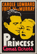 """Movie Posters:Comedy, The Princess Comes Across (Paramount, 1936). Leader Press One Sheet (28"""" X 41""""). Comedy.. ..."""