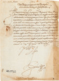 Autographs:Non-American, Philip II, King of Spain, Document Signed...