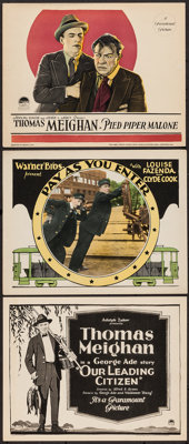 """Our Leading Citizen and Others Lot (Paramount, 1922). Title Lobby Card and Lobby Cards (2) (11"""" X 14""""). Comedy..."""