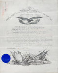 Autographs:U.S. Presidents, Grover Cleveland Military Appointment Signed....