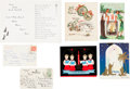 Miscellaneous:Ephemera, [Martin Luther King, Jr.]. Group of Two Postcards Signed by CorettaScott King and Five Christmas Cards.... (Total: 7 )
