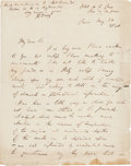 Autographs:Inventors, Sir Humphry Davy Autograph Letter Signed....