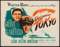 "Movie Posters:War, Destination Tokyo (Warner Brothers, 1943). Half Sheet (22"" X 28"").War.. ..."