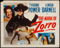 "Movie Posters:Swashbuckler, The Mark of Zorro (20th Century Fox, R-1958). Half Sheet (22"" X 28"") Style A. Swashbuckler.. ..."