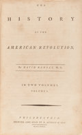 Books:Americana & American History, David Ramsay. The History of the American Revolution.Philadelphia: R. Aitken & Son, 1789. First edition. With...(Total: 2 Items)