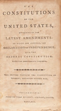 Books:Americana & American History, [Early American Imprints]. The Constitutions of the UnitedStates, According to the Latest Amendments: To Whichar...