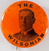 Woodrow Wilson: Rare Princeton Colors Picture Pin