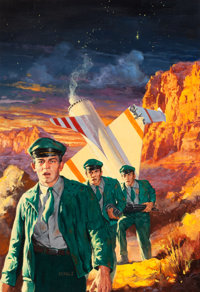 ROBERT SCHULTZ (American, 1928-1978) Three to Conquer, Ace Double paperback cover, 1956 Oil on board
