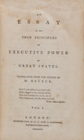 Books:World History, Jacques Necker. An Essay on the True Principles of ExecutivePower in Great States.... (Total: 2 Items)