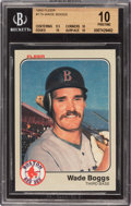 Baseball Cards:Singles (1970-Now), 1983 Fleer Wade Boggs #179 Beckett Pristine 10 - Pop Three. ...