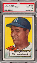 Baseball Cards:Singles (1950-1959), 1952 Topps Roy Campanella #314 PSA NM-MT 8....