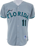 Baseball Collectibles:Uniforms, 1999 Alex Gonzalez All-Star Game Worn Florida Marlins Jersey....