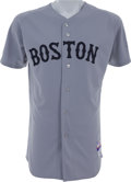 Baseball Collectibles:Uniforms, 2009 Jacoby Ellsbury Game Worn Boston Red Sox Jersey....