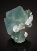 """Minerals:Small Cabinet, FLUORITE. The """"Blue Pocket"""", Xianghualing Mine, Linwu County,Chenzhou Prefecture, Hunan Province, China. ..."""
