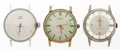 Timepieces:Pocket (post 1900), Three Gent's Running Wristwatches. ... (Total: 3 Items)