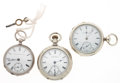 Timepieces:Pocket (pre 1900) , Waltham & E. Howard & Elgin Pocket Watches. ... (Total: 3 Items)