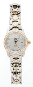 Timepieces:Wristwatch, Tag Heuer Lady's Two-Tone Wristwatch. ...