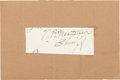 "Autographs:Inventors, William Barclay ""Bat"" Masterson Clipped Signature...."