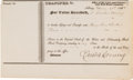 Autographs:Celebrities, Erastus Corning Document Signed....