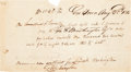 Autographs:Statesmen, Bushrod Washington Autograph Document Signed. ...