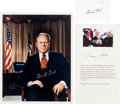 Autographs:U.S. Presidents, [Presidents]. Group of Three Items ... (Total: 3 Items)