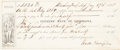 Autographs:Military Figures, Wade Hampton Document Signed. ...