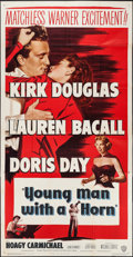 """Movie Posters:Drama, Young Man with a Horn (Warner Brothers, 1950). Three Sheet (41"""" X 79""""). Drama.. ..."""