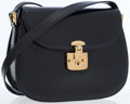 Luxury Accessories:Bags, Gucci Dark Navy Calf Leather Structured Flap Bag with GoldHardware. ...