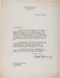 Autographs, Alfred P. Sloan, Jr. Typed Letter Signed...