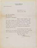 Autographs:Inventors, Glenn H. Curtiss Typed Letter Signed....