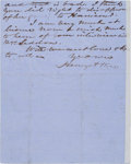 Autographs:Military Figures, Henry A. Wise Autograph Letter Signed....